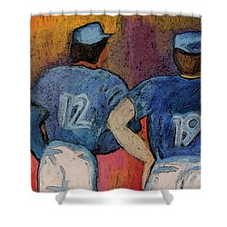 Baseball Team By Jrr  Shower Curtain by First Star Art