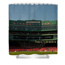 Baseballs Hollowed Ground Shower Curtain by Paul Mangold