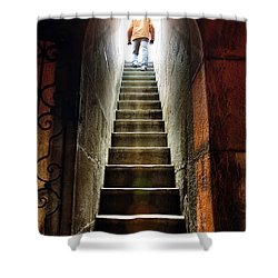 Basement Exit Shower Curtain by Carlos Caetano