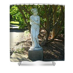 Shower Curtain featuring the photograph Bashful Maiden by Leanne Seymour