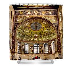 Basilica Di Sant'apollinare Nuovo - Ravenna Italy Shower Curtain by Jon Berghoff