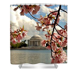 Basin Blossoms Shower Curtain