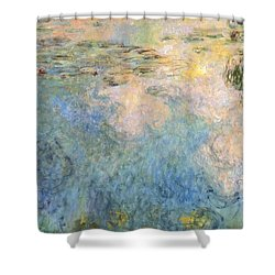 Basin Of Water Lilies Shower Curtain by Claude Monet