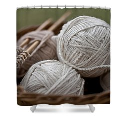 Basket Of Yarn Shower Curtain