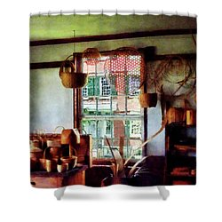 Shower Curtain featuring the photograph Basket Shop by Susan Savad