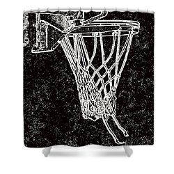 Basketball Years Shower Curtain by Karol Livote
