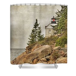 Bass Harbor Head Lighthouse. Acadia National Park Shower Curtain