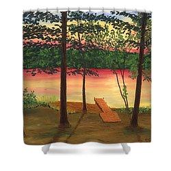 Bass Lake Shower Curtain