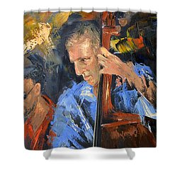 Bass Man Shower Curtain by Anthony Falbo