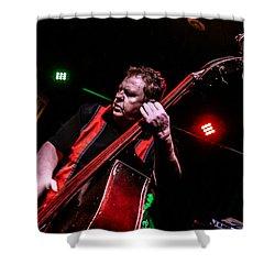 Bass Man Shower Curtain by Ray Congrove
