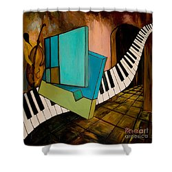 Bass Solo Shower Curtain by Larry Martin