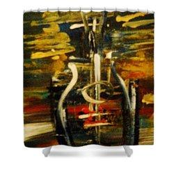 Bassguitar 2 Shower Curtain