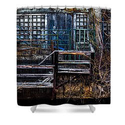 Bates Mill No 5 Shower Curtain by Bob Orsillo