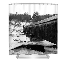 Bath Covered Bridge Shower Curtain by Barbara Bardzik