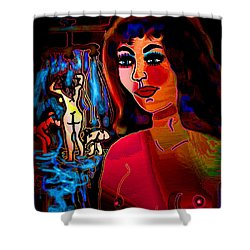 Bath House Shower Curtain by Natalie Holland