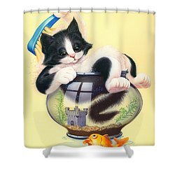 Bath Time Shower Curtain by Andrew Farley
