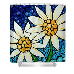 Bathing Beauties - Daisy Art By Sharon Cummings Shower Curtain