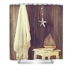 Bathroom Interior Shower Curtain by Amanda Elwell