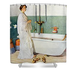 Bathroom Scene Lisbeth Shower Curtain by Carl Larsson