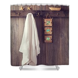 Bathroom Wall Shower Curtain by Amanda Elwell