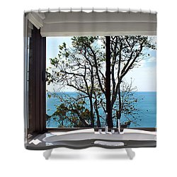 Bathroom With A View Shower Curtain