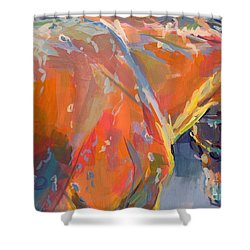 Bathtime  Shower Curtain by Kimberly Santini