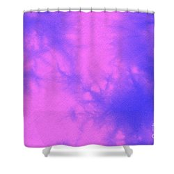 Batik In Purple And Pink Shower Curtain by Kerstin Ivarsson