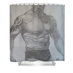 Batista Shower Curtain by Justin Moore