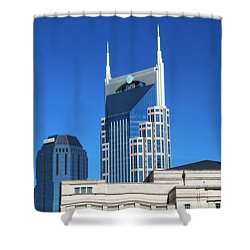 Batman Building And Nashville Skyline Shower Curtain by Dan Sproul