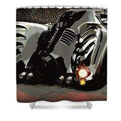 Batmobile 2 Shower Curtain by Cathy Smith