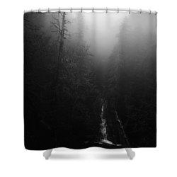 Batson Creek Falls Fog Shower Curtain