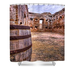 Shower Curtain featuring the photograph Battalion Barrell by Tim Stanley