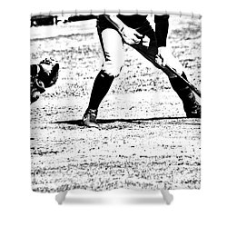 Batter Up Shower Curtain by Karol Livote
