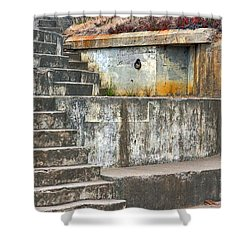 Shower Curtain featuring the photograph Battery Chamberlin by Kate Brown
