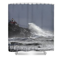 Battery Point Storm Shower Curtain by Betty Depee