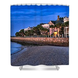 Battery Row Shower Curtain