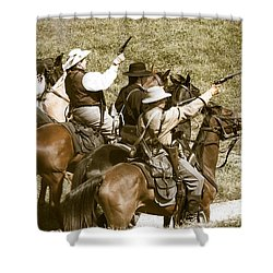 Battle Charge Shower Curtain by Steven Bateson