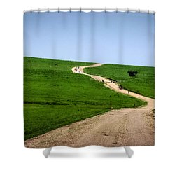 Battle Creek Road Teamwork Shower Curtain