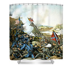 Battle Of Franklin Shower Curtain by Unknown