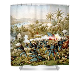 Battle Of Qusimas Shower Curtain by Kurz and Allison