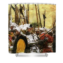 Battle Of Tewkesbury Shower Curtain