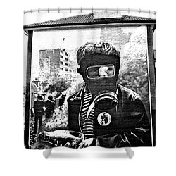 Battle Of The Bogside Mural Shower Curtain