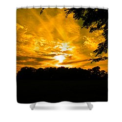 Battle Of The Clouds Shower Curtain by Nick Kirby