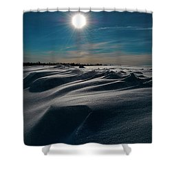 Battling For Melt  Shower Curtain by Empty Wall
