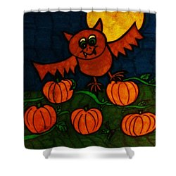 Batty At Night Shower Curtain by Christy Saunders Church