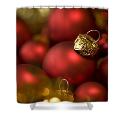 Baubles Shower Curtain by Anne Gilbert