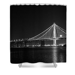 Bay Bridge Moon Shower Curtain