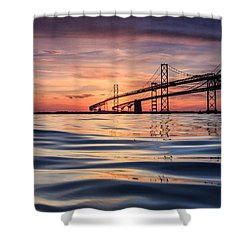 Bay Bridge Silk Shower Curtain
