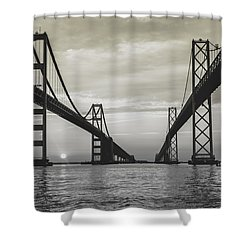 Bay Bridge Strong Shower Curtain