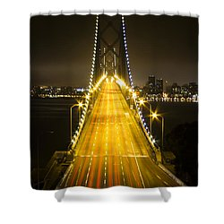 Bay Bridge Traffic Shower Curtain